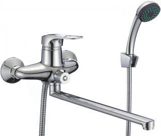 Смеситель для ванны с душевым набором излив 30 см. Fmark FM2204 хром