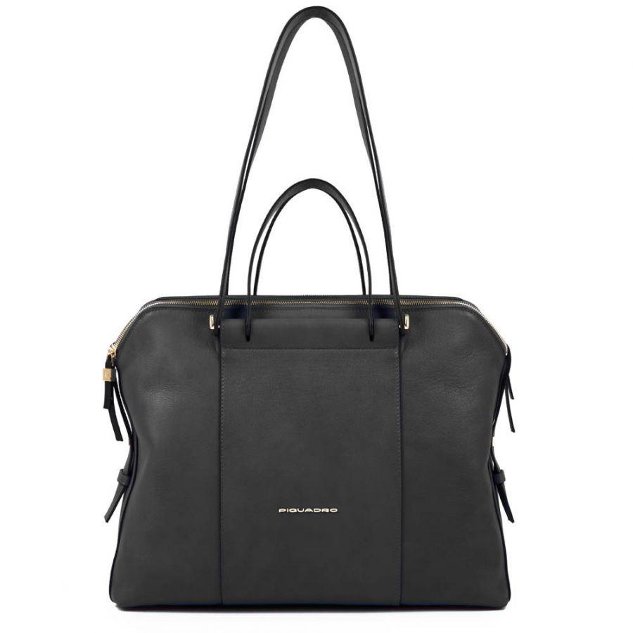 Женская кожаная сумка Piquadro BD4574W92/N черная
