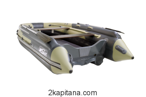 """ЛОДКА """"SKAT-ТРИТОН-370 NDFi"""" с Интегрированным Фальшбортом и пластиковым транцем"""