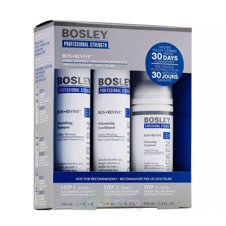 BOSLEY Набор для истонченных неокрашенных волос (ШАМПУНЬ,КОНДИЦИОНЕР,УХОД) BOS REVIVE STARTER PACK FOR VISIBLY THINNING NON COLOR-TREATED HAIR