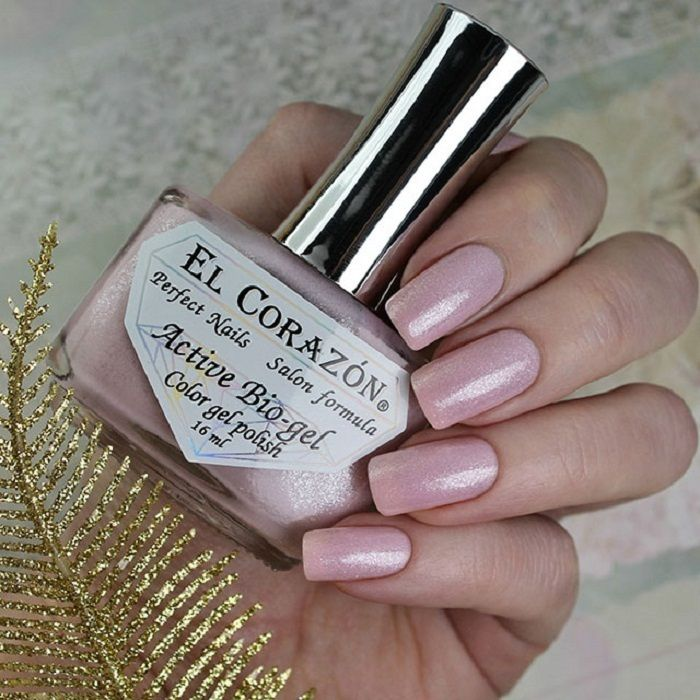 El Corazon Активный Био-гель №423/2021 Shimmer Нежно-розовый 16 мл