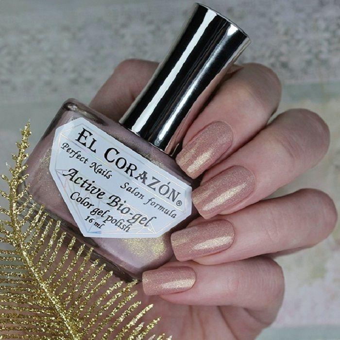 El Corazon Активный Био-гель №423/2023 Shimmer Светло -коричневый с золотом 16 мл