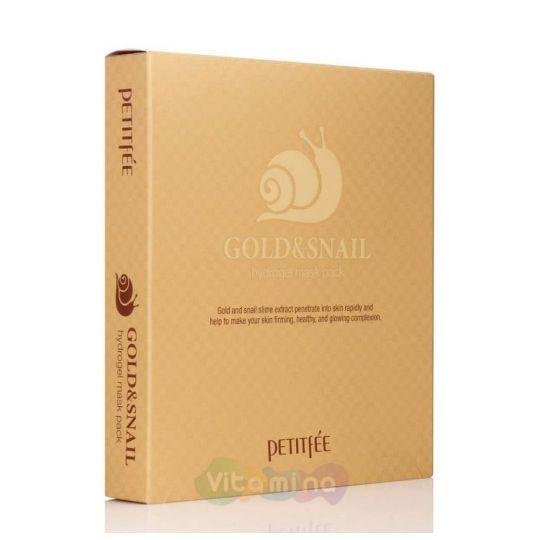 Petitfee Набор Гидрогелевых масок для лица с золотом и улиточным муцином Gold & Snail Mask Pack