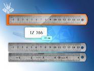 Линейка металлическая 15см, двойная шкала (арт. tz 386)