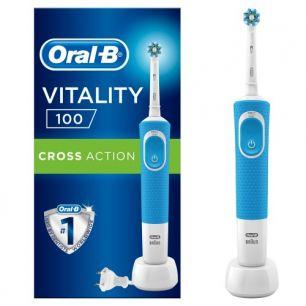 Электрическая зубная щетка Oral-B Vitality 100 CrossAction, синий