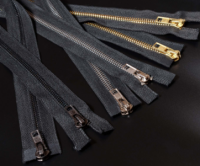 """Молния курточная,  т.8 """"JX"""" металл, с двумя бегунками, черная, 95 см"""