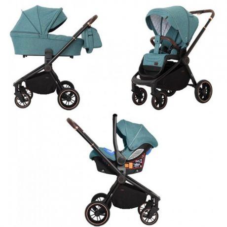 Детская коляска 3 в 1 CARRELLO  Epica CRL-8511/1 Tea Green (черн.рама)