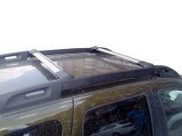 Багажник на рейлинги Renault Duster II (2015-...), Lux Hunter, серебристый, крыловидные аэродуги
