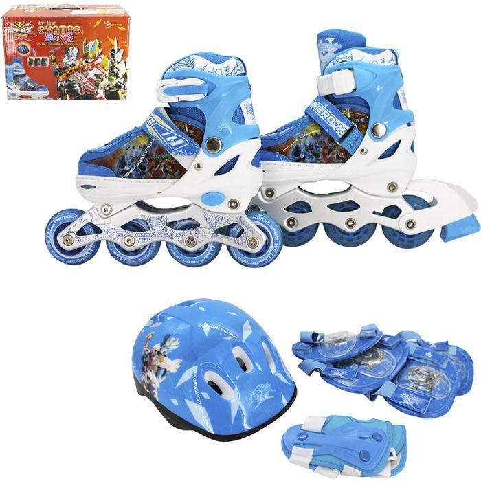 Набор ролики и защита р.31-34, голубой 141-2214R