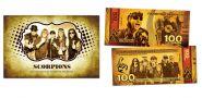 100 рублей - группа Scorpions (золото). Памятная банкнота в буклете.