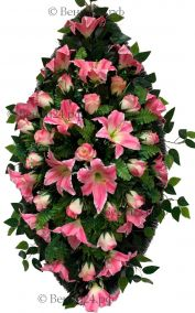 Фото Траурный венок из искусственных цветов - Элит #50