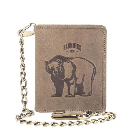 Бумажник Klondike Wayne Bear, коричневый