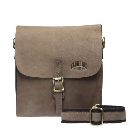 Кожаная наплечная сумка Klondike Brad, коричневая