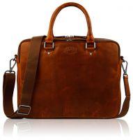 Кожаная деловая сумка Klondike Digger Earl, цвета коньяк