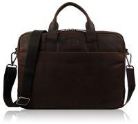 Кожаная деловая сумка Klondike Digger Mavis, темно-коричневая