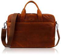 Кожаная деловая сумка Klondike Digger Mavis, коньячная