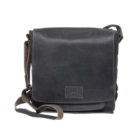 Кожаная мужская сумка через плечо Klondike Native, черная