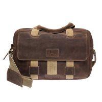Наплечная кожаная мужская сумка Klondike Native, коричневая