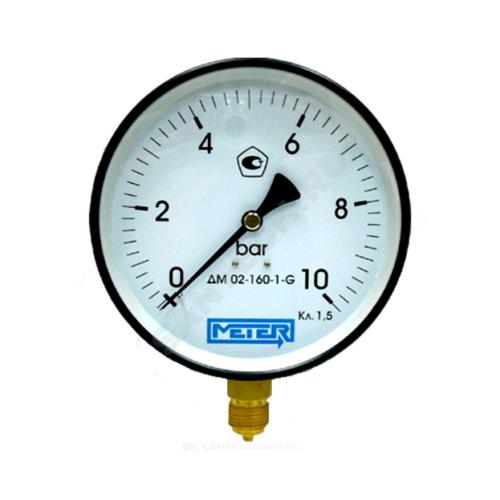 Манометр ДМ02-160 радиальный Дк160мм 0-1,0 кгс/см2 М20х1,5 Метер