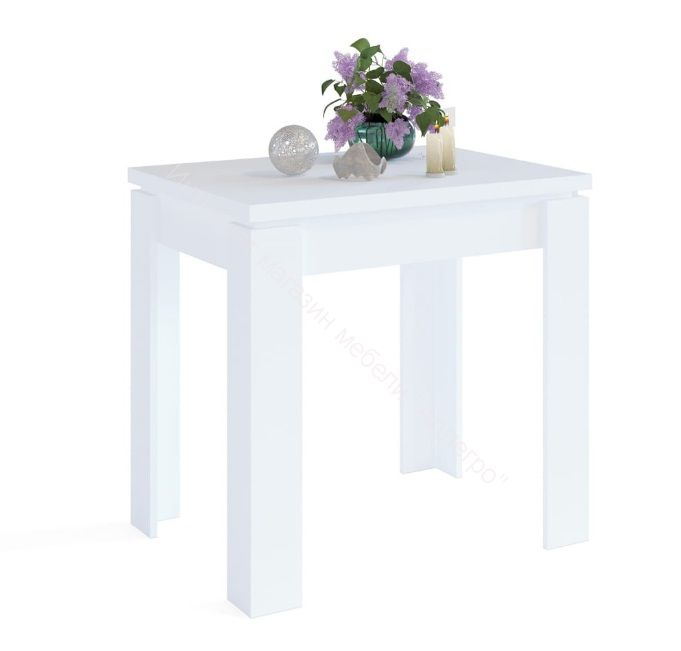 """Кухонный стол """"СО-1"""" раскладной Белый"""