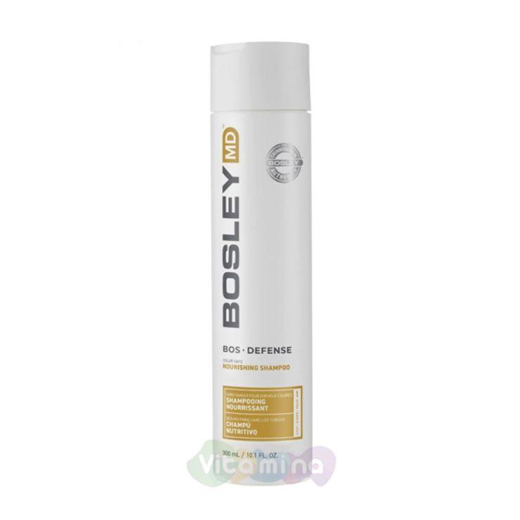 BOSLEY MD Шампунь для предотвращения истончения и выпадения волос BOSDefense Color Safe Nourishing Shampoo, 300мл.