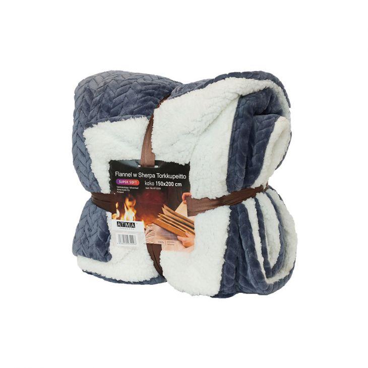 Плед SHERPA Blanket 150*200 см blue/white