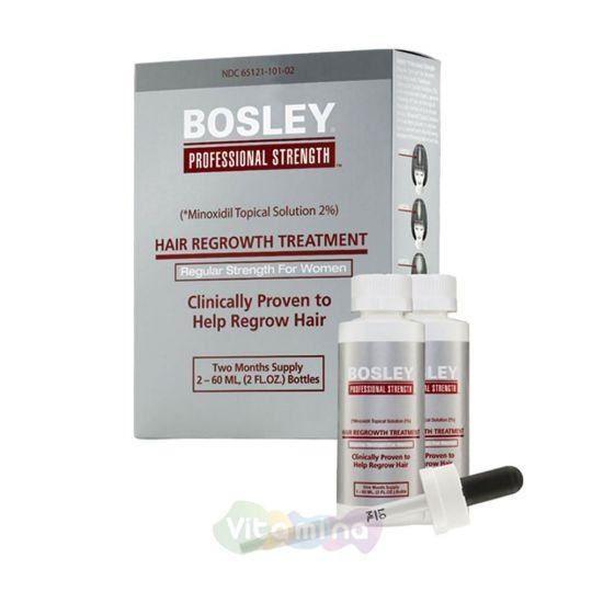 BOSLEY УСИЛИТЕЛЬ РОСТА ВОЛОС 5% (ДЛЯ МУЖЧИН)HAIR REGROWTH TREATMENT EXTRA STRENGTH FOR MEN, 2*60мл