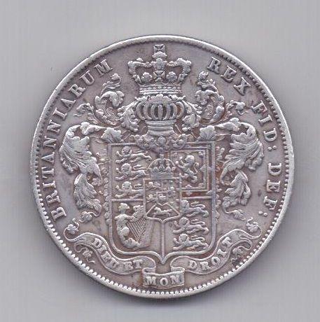 1/2 кроны 1825 года AUNC Великобритания