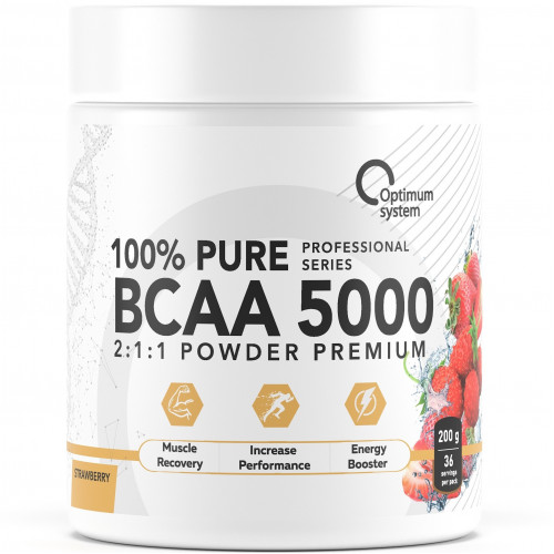 Optimum System BCAA 5000 Powder 200 gr. 40 порций