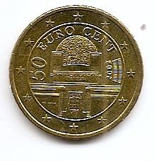 50 евроцентов Австрия 2002 регулярная из обращения