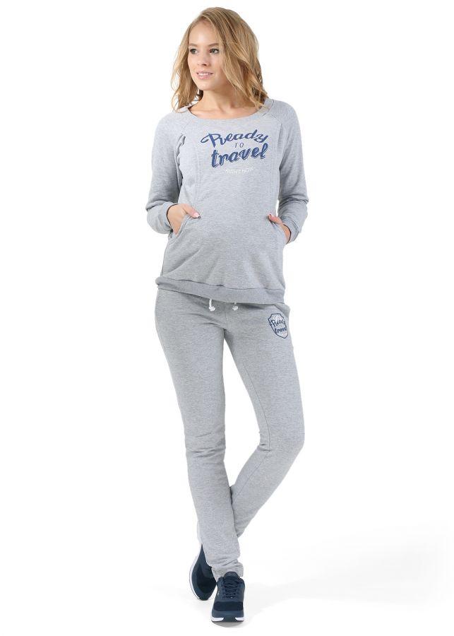 """Джемпер из костюма утепл. """"Джолли"""" для беременных и кормящих серый меланж"""