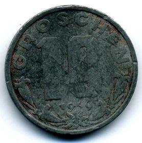 Австрия 10 грошей 1949