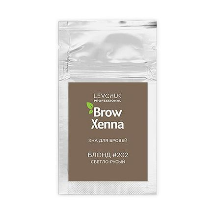 BrowXenna хна для бровей Блонд №202 светло-русы, 6 г (саше-рефилл) 6г.