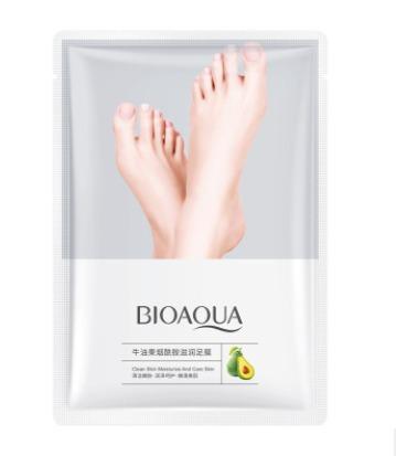 Восстанавливающая маска-носочки для ног с маслом авокадо «BIOAQUA».(65952)