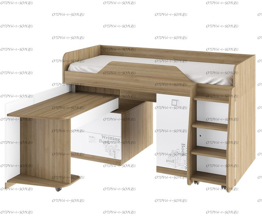 Кровать-чердак Оксфорд ТД-139.11.03 (80х200)