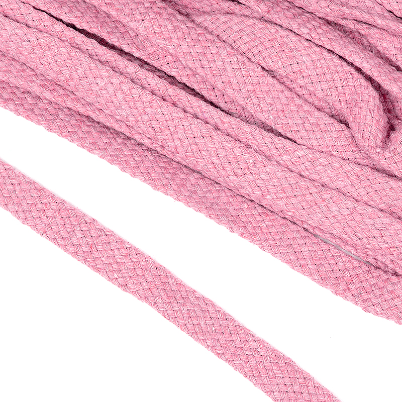 Шнур хлопковый плоский 10 мм турецкое плетение (ХШ10.103)