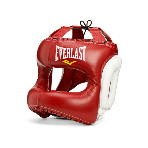 Шлем для бокса Everlast MX Headgear L RD/WHT. артикул 310400
