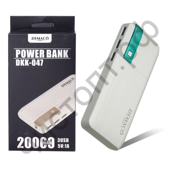 Моб. заряд. устрой. Demaco DKK-A47 20000 mAh Power Bank