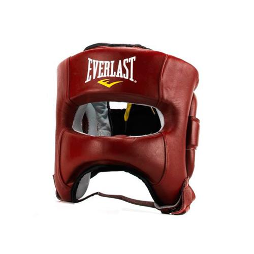 Шлем для бокса Everlast Elite Leather LXL красн. артикул P00000681 LXL RD