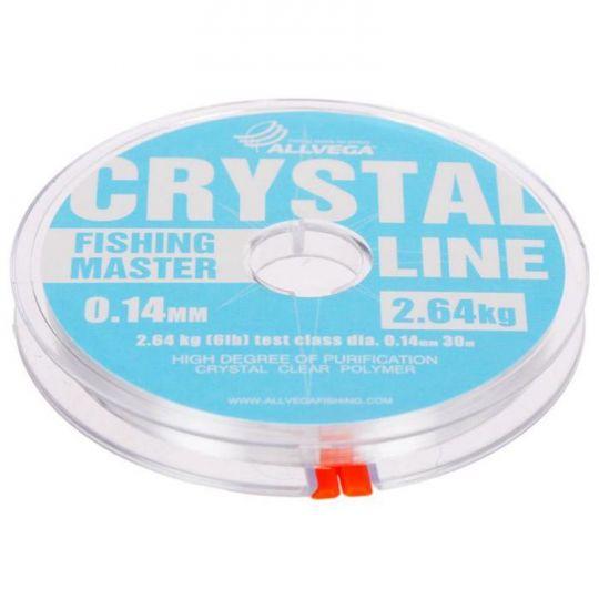 Леска ALLVEGA Fishing Master CRYSTAL 30м прозрачная