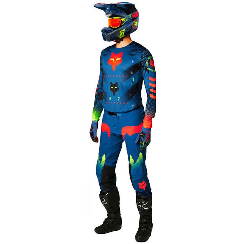 Fox Flexair Mawlr Dust Blue джерси и штаны для мотокросса