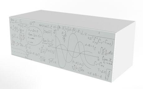 Тумба навесная печать Формулы Ньютон Грэй