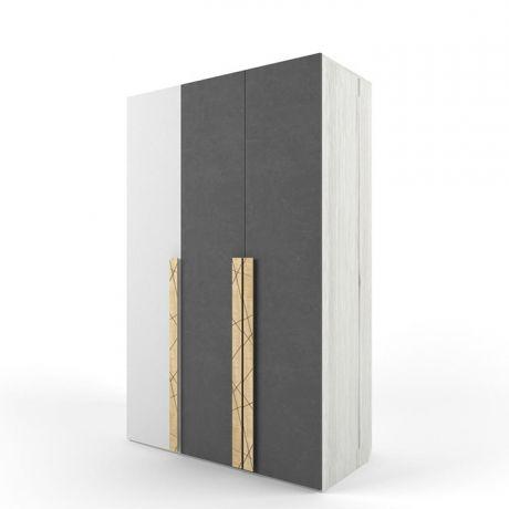Шкаф 3-х створчатый Ньютон Грэй