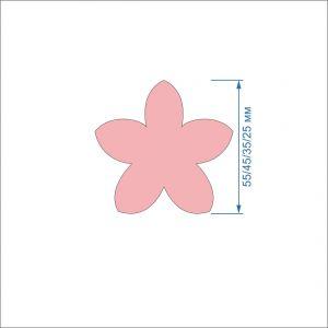 Заготовка ''Цветок-1'' , фетр 1 мм (1уп = 5наборов)