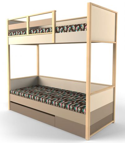 Кровать 2х-ярусная с фальшпанелью УНИВЕРСАЛЬНАЯ Робин Wood