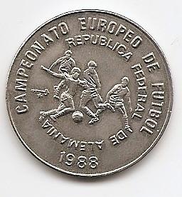 Чемпионат Европы по футболу 1988, ФРГ. Удар 1 песо Куба 1988