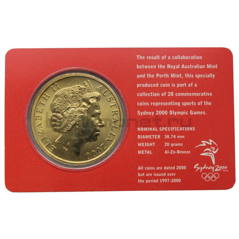 5 долларов 2000 Австралия Греко-римская борьба (Олимпийские игры в Сиднее)