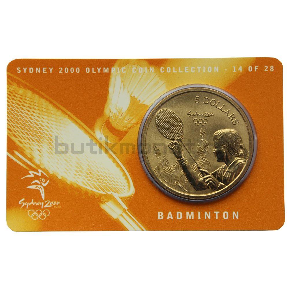5 долларов 2000 Австралия Бадминтон (Олимпийские игры в Сиднее)