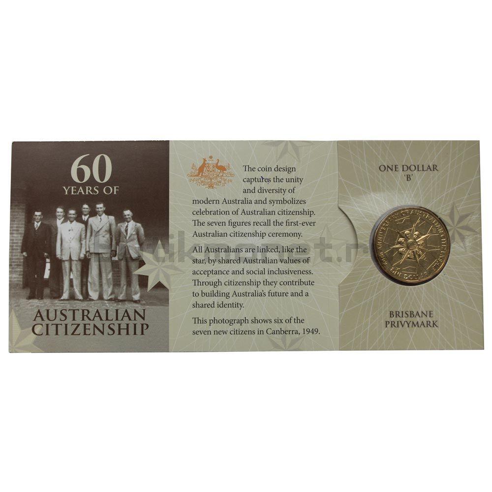 1 доллар 2009 Австралия 60 лет Австралийскому гражданству