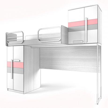 Кровать верхняя Шкаф Твист «Олли»